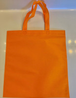 "Non Woven Tote Bag (Orange) 13.5""W x 14.5""H"