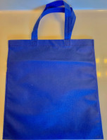 "Non Woven Tote Bag (Royal Blue) 13.5""W x 14.5""H"