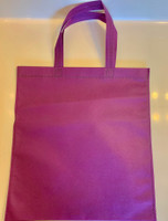 "Non Woven Tote Bag (Purple) 13.5""W x 14.5""H"
