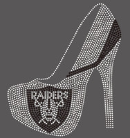 Raiders Heel with skull custom Rhinestone Transfer