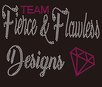 Fierce & Fearless Designs diamond Rhinestone transfer