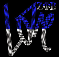 Zeta Phi Beta Love Rhinestone transfer