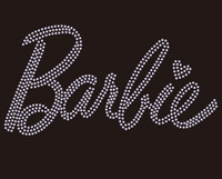 Barbie Text Rhinestone transfer