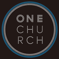 One Church inside circle Custom Rhinestone transfer