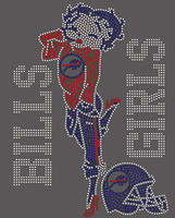Bills Girls Betty Boop Football Rhinestone Transfer