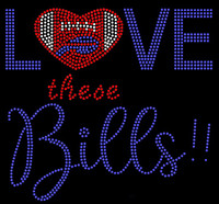 Love these Bills Football Rhinestone Transfer