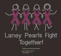 (Deposit for 70 Qty) Laney Pearls Fight together custom Rhinestone Transfer