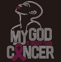 My God is Bigger than Cancer custom Rhinestone Transfer