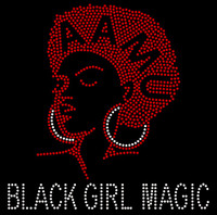 AAMU Girl Black Girl Magic custom Rhinestone Transfer