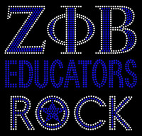 Zeta Phi Beta Educators Rock Rhinestone Transfer