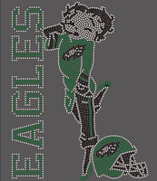 Eagles Betty Boop custom Rhinestone transfer