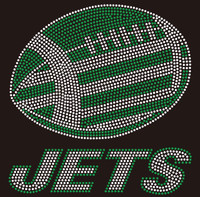 Jets Football custom Rhinestone transfer