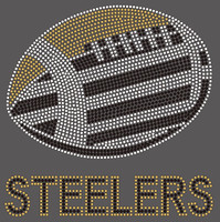 Steelers football custom Rhinestone Transfer