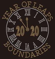 (35 Qty) Clock Years of Leaps Boundaries  Rhinestone Transfer