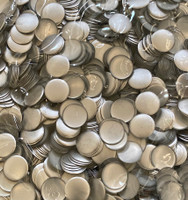 13mm Nailhead SILVER Round 500 pc Loose Hot fix