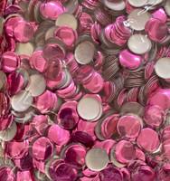 13mm Nailhead Pink Round 500 pc Loose Hot fix