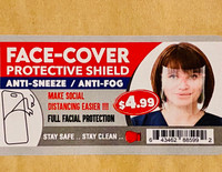 Face Cover Protective Shield Anti-Sneeze Anti-Fog