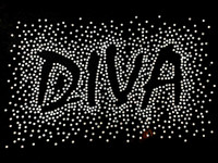Diva Spray CLEAR Rhinestone Transfer Iron on