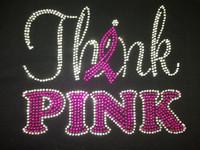 Think Pink (FUCHSIA Hot Pink) Rhinestone Transfer