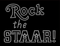 Rock The Staar School Rhinestone Transfer Iron on
