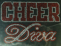 Cheer Diva RED Rhinestone Transfer Iron on