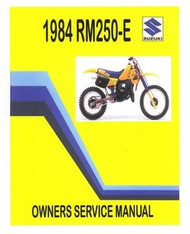 1984 Suzuki RM250E Owners & Service Manual