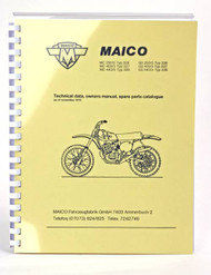 1976-77 Maico Owners & Spare Parts Manual