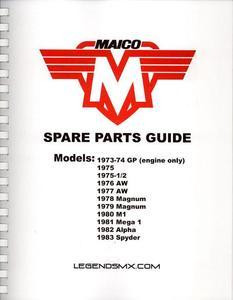 Parts guide for nearly all Maico models!