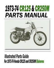 1973-74 Honda Elsinore Parts Manual & Service Bulletins