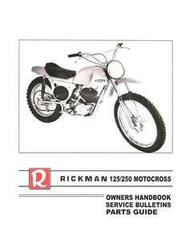 Rickman Service & Parts Manual: Zundapp 125 & Montesa 250 Motors