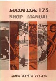 Honda CB175 CL175 SL175 Shop Manual