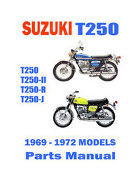 1969-72 Suzuki T250 Hustler Parts Manual