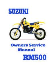 Suzuki RM500 Service Manual