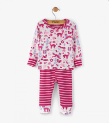 Hatley Woodland Tea Party Long Sleeve Baby Pyjama