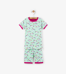 Hatley Roly Poly Unicorns Short PJ Set size 7 only