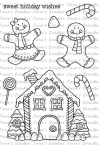 Gingerbread Digital Stamp