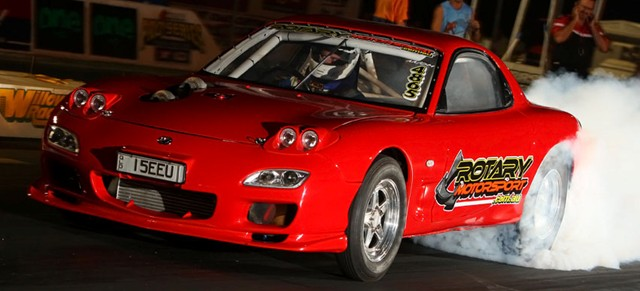 Ben Hunt's Twin Turbo 20B Mazda RX7 Drag Car - Ultimate Power Steering