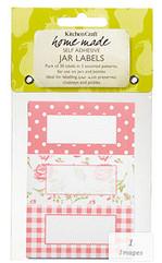 Pack of 30 Pink Roses Design Jam Jar Labels