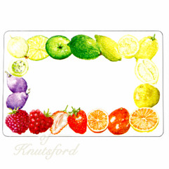 Rainbow Jam Labels - 70mm x 50mm - Mixed Fruit Design - Ideal for any Jam Jars 4oz through to 2lb