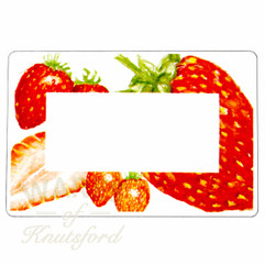 Jam Jar Labels , Perfect for Strawberry Jam - 70mm x 50mm  - Ideal for Jars 4oz through to Gallon