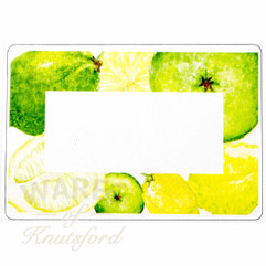 Lemon and Lime Preserving Labels -  70mm x 50mm  - Ideal for Jars 4oz upwards