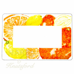 Orange and Lemons Marmalade Preserving Labels -  70mm x 50mm  - Ideal for Jars 4oz upwards