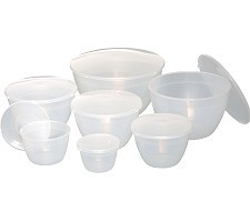 Plastic Pudding Basin with Lid  1.1L-2PT