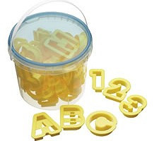 Alphanumeric Pastry Cutters