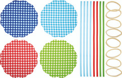 Fabric Covers Gingham