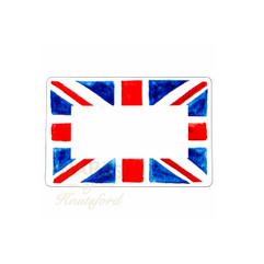 Union Jack Traditional Mini Preserving Labels, Wedding Favour Labels