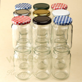 Elegant 370ml Classic 1lb Jam Jar With A Heat Sealable Lid In A Choice Of 7  Different