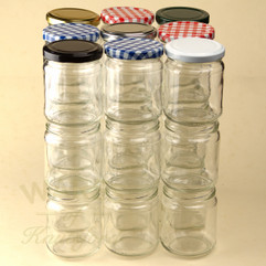 228ml (8oz) Jam Jars -  Packs 200 & 500 (including lids)