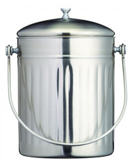 5 Litre Stainless Steel Compost Bin