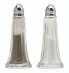 Cruet Set - Glass and Chrome